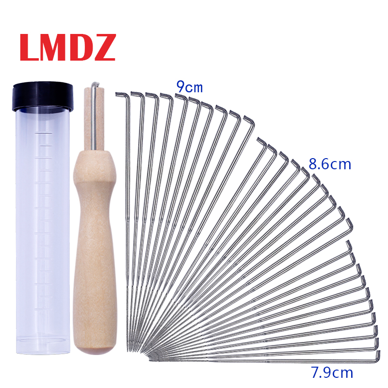 LMDZ 30pcs  Felting Needles Kits Wool Felting DIY Supplies PIN Felting Needle Tool Set With 10 Felting Needles With Clear Bottle