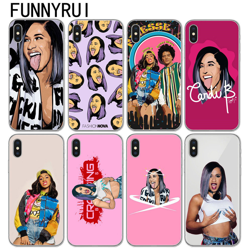 buy online 25cdb cc3c1 US $1.51 |Fashion Nova Cardi B tongue Finesse Soft TPU Phone Cases Cover  For iPhone 5 5S SE 6 6S Plus 7 7 plus 8 8 Plus X 10-in Fitted Cases from ...