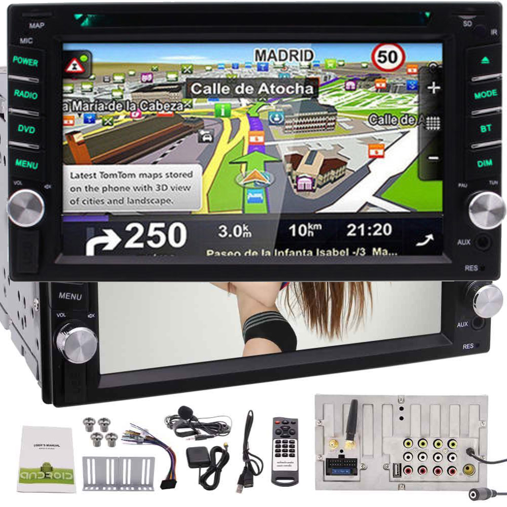 2 Din Android 6.0 Car Stereo Quad core Car DVD Player in Dash GPS Navigation Autoradio Bluetooth 4.0 Headunit Support Wifi GPS