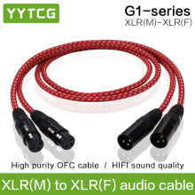 YYTCG 1 Pair Hifi XLR Cable High quailty 3 Pin 2 XLR Male to 2 XLR Female audio cable 1m 2m 3m 5m 2019mmf 1 xlr female to 2 male audio adapter cable