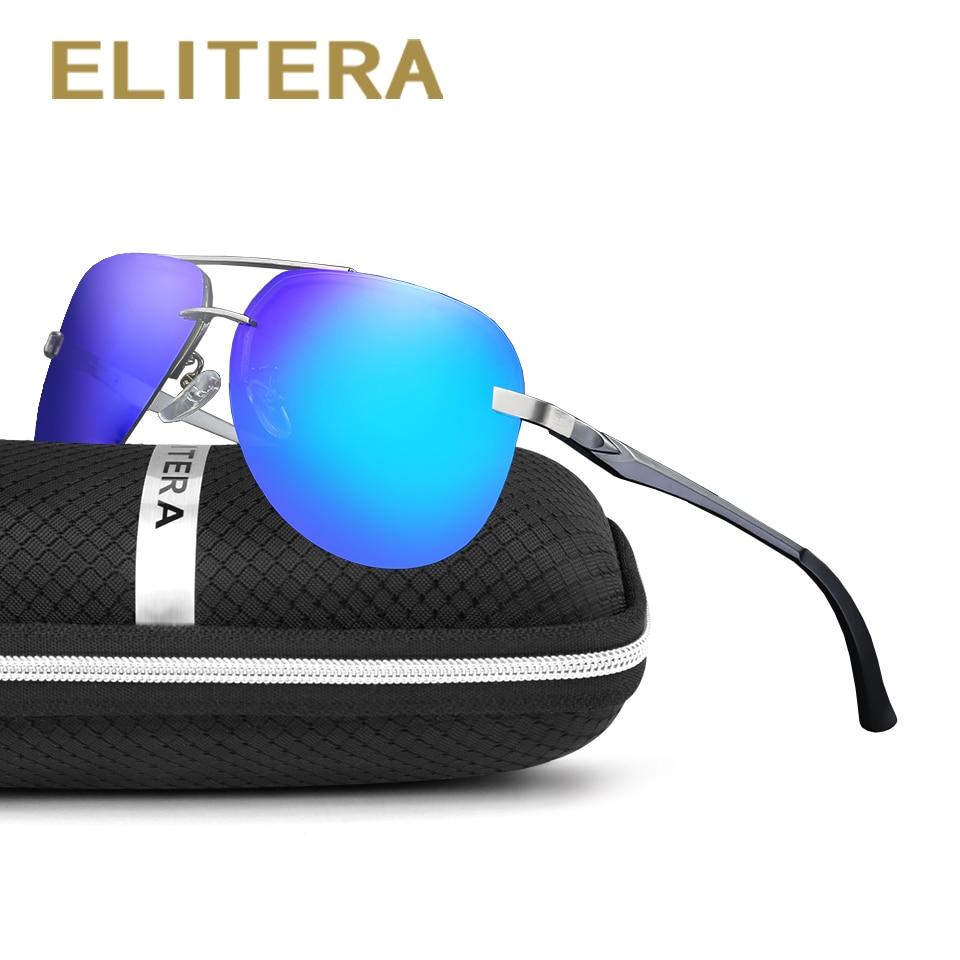 fd42815d3b7a98 ELITERA Nouveau Polarisées lunettes de Soleil Hommes Pilote Miroir lunettes  de Soleil Homme Conduite Pêche Femelle En Plein Air Lunettes De Sport Pour  ...