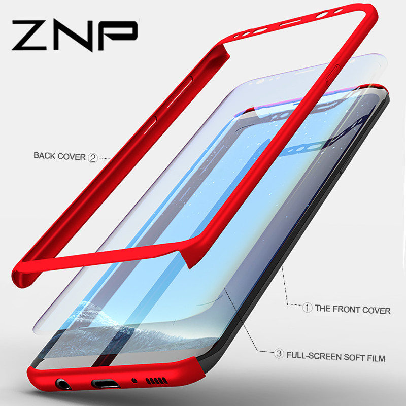ZNP 360 Degree Phone Cases For Samsung NOTE 8 S7 Edge Case S8 Plus Shockproof Full Cover For Samsung Galaxy S8 Plus NOTE 8 Case