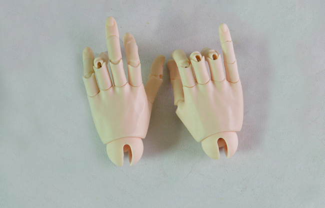 HeHeBJD 1 3 Doll Jointed Hands for 65 70cm male Dolls free shipping