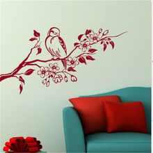 Tree & Bird Wall Sticker Decal Art Transfer Graphic Stencil Vinyl Home Home Wall Decorative Art Livingroom Wall Decals