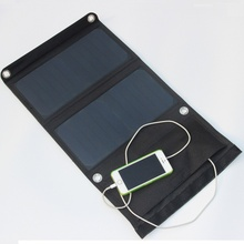 BUHESHUI 14W Foldable Solar Panel Charger Solar Mobile Charger For iphone Solar Battery Charger Sunpower 3pcs/lot Free Shipping
