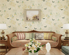beibehang Nonwovens Personality Wall paper American retro nostalgic butterflies 3d wallpaper Living room Bedroom sofa background