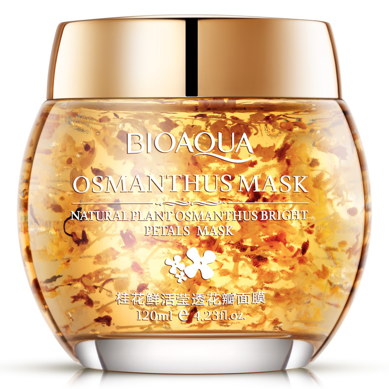 BIOAQUA  Plant Osmanthus Sleeping Mask Bright Petals Clay Beauty Face Care Nourishing Moisturizing Acne Treatment Facial Mask