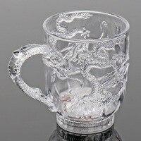 Автоматический светодиодный Дракон мигающая чашка цвет мигающий свет стакан для виски пиво питьевой светящаяся чашка Индуктивный Радуга в...