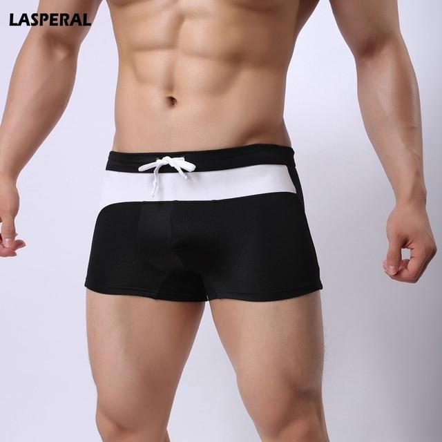 75097b35d04cb7 LASPERAL Swimsuit Men Swimming Trunk Boxer Briefs Swim Shorts Trunks  Elastic Men Swimwear Pant 2019 Hot