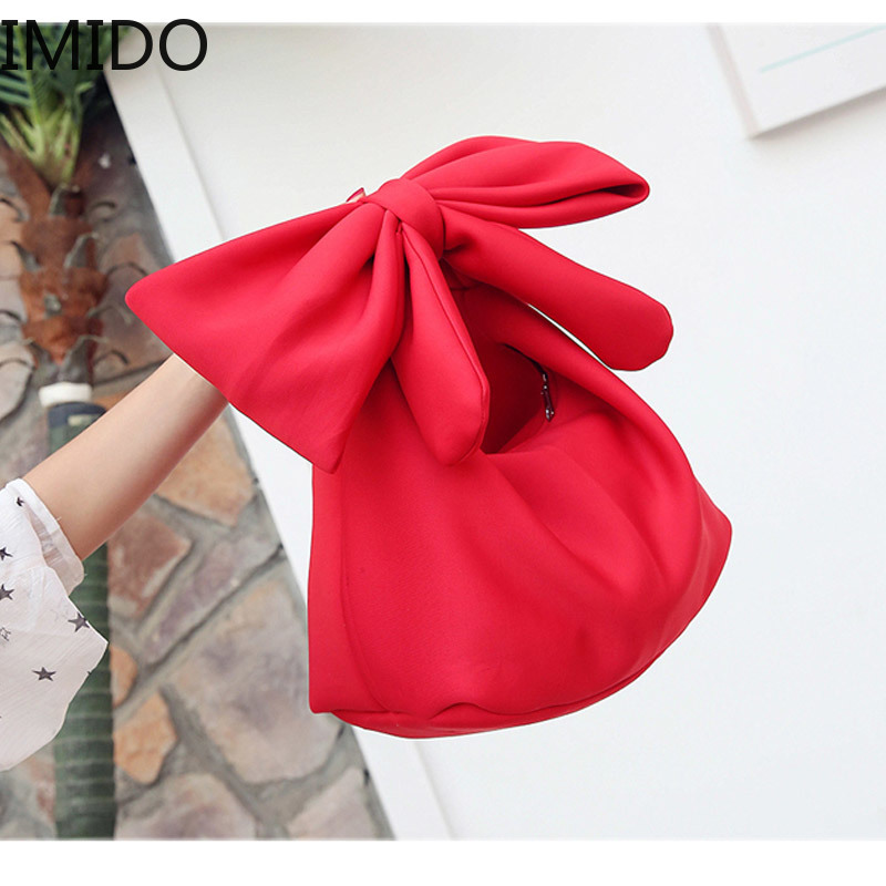 IMIDO 2019 Bags for Women Fashion Women Handbag Style Bag Bow Bags Pink Red White Soft Space Cotton Tote Retrol Spring SummerIMIDO 2019 Bags for Women Fashion Women Handbag Style Bag Bow Bags Pink Red White Soft Space Cotton Tote Retrol Spring Summer