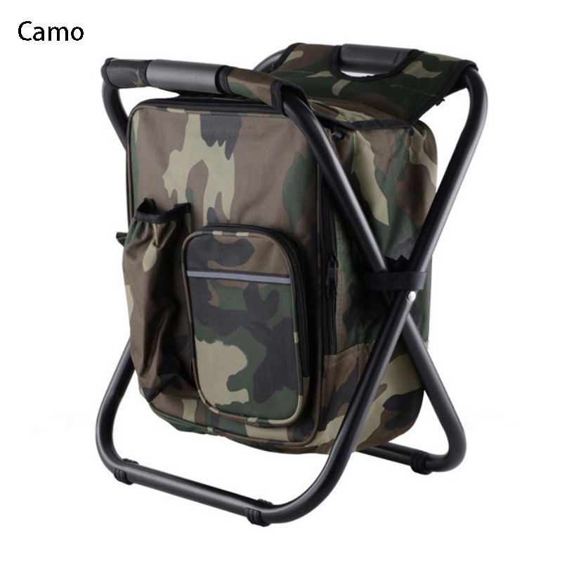 Multifunctional folding stool portable ice pack stool With insulated package back fishing stool beach chair lightweight outdoor bamboo bamboo portable folding stool have small bench wooden fishing outdoor folding stool campstool train