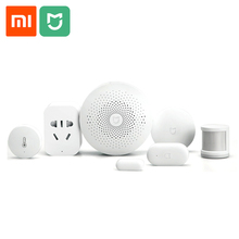 Xiaomi Mijia Smart Home Automation Multifunction Gateway Door Window Body Sensor Temperature Humidity Sensor Wireless Switch