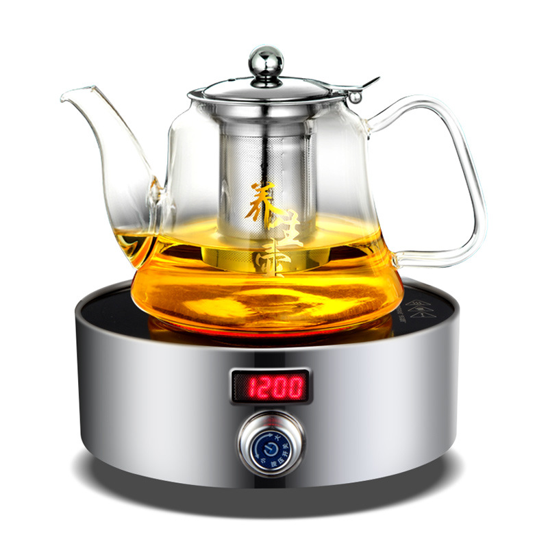 AC220 240V 50 60hz mini electric ceramic stove boiling tea heating coffee 1200w power 12 files can timing 3hours - 2