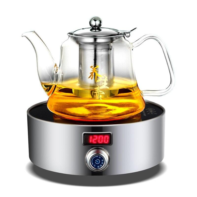AC220 50 V 60 hz mini fornello elettrico in vetroceramica bollente tè caffè riscaldamento 1200 w di potenza 12 file può temporizzazione 3 ore - 2