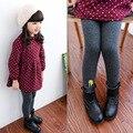 Baby Girls Leggings Cotton Winter 2016 Leggings for Girls Pants Plus Velvet Gray Elastic Waist Children Trousers Toddler pants