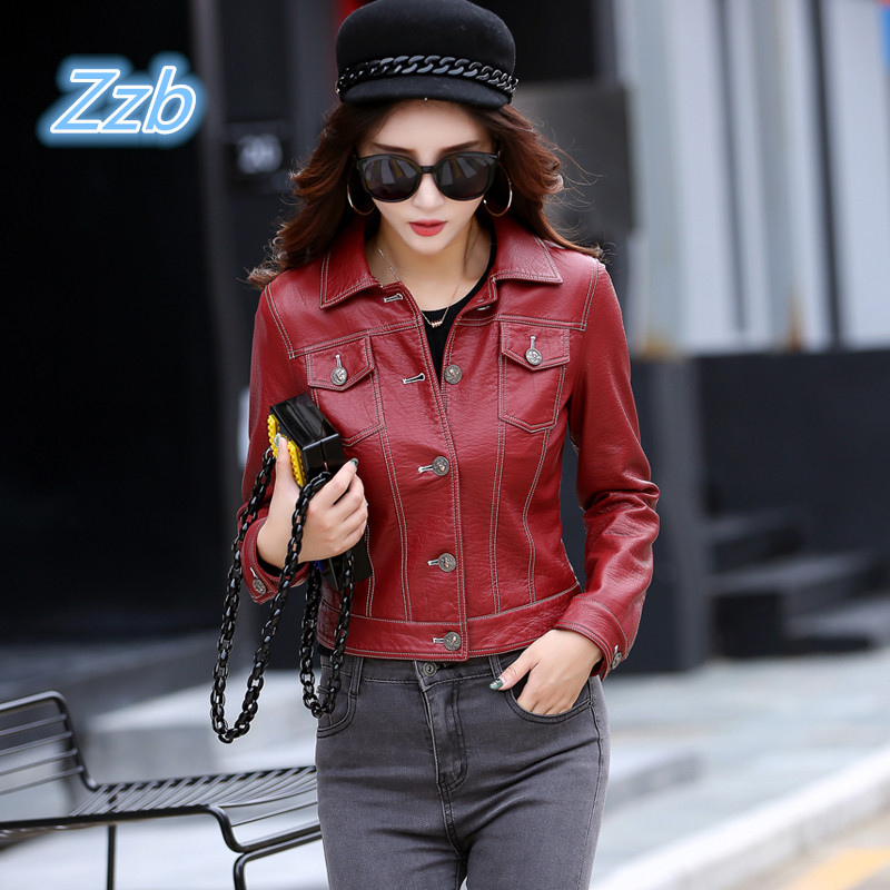 Classic Hip hop style leather Jacket breakdancing Street Leather Coat Punk motorcycle zipper wine red Green Black Leather Jacket
