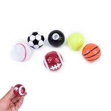6 шт./партия, новинка, красочные спортивные мячи для гольфа, игры в гольф, сильная устойчивость, сила, Спортивная практика, смешные шары, подарок, внутри, на открытом воздухе