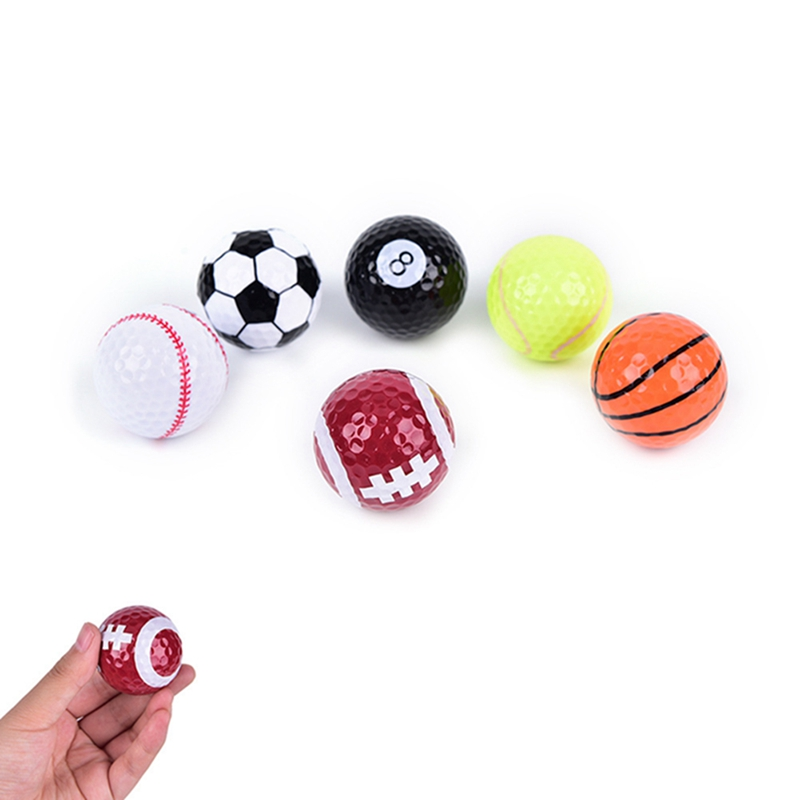 6 pcs/set Novelty Colorful Sports Golf Balls Golf Game Strong Resilience Force Sports Practice Funny Balls Gift Indoor Outdoor image