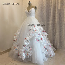 DREAMY BRIDAL Elegant 3D Appliques Wedding Dress