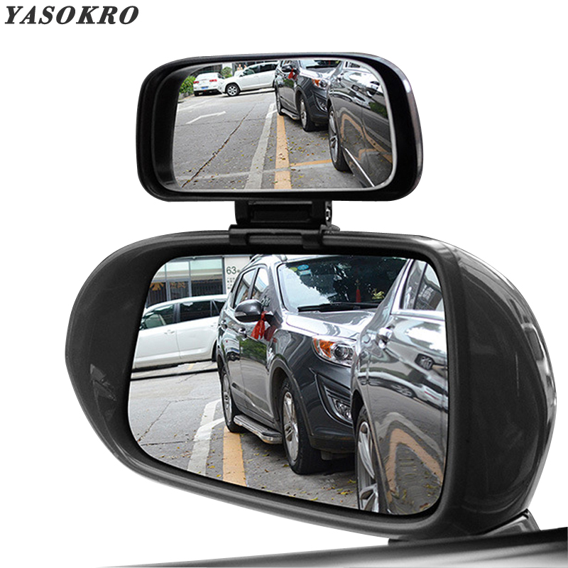 YASOKRO Car Blind Spot Mirror Rotation Adjustable Rear View Mirror Wide Angle Lens For Parking Auxiliary Car Mirror