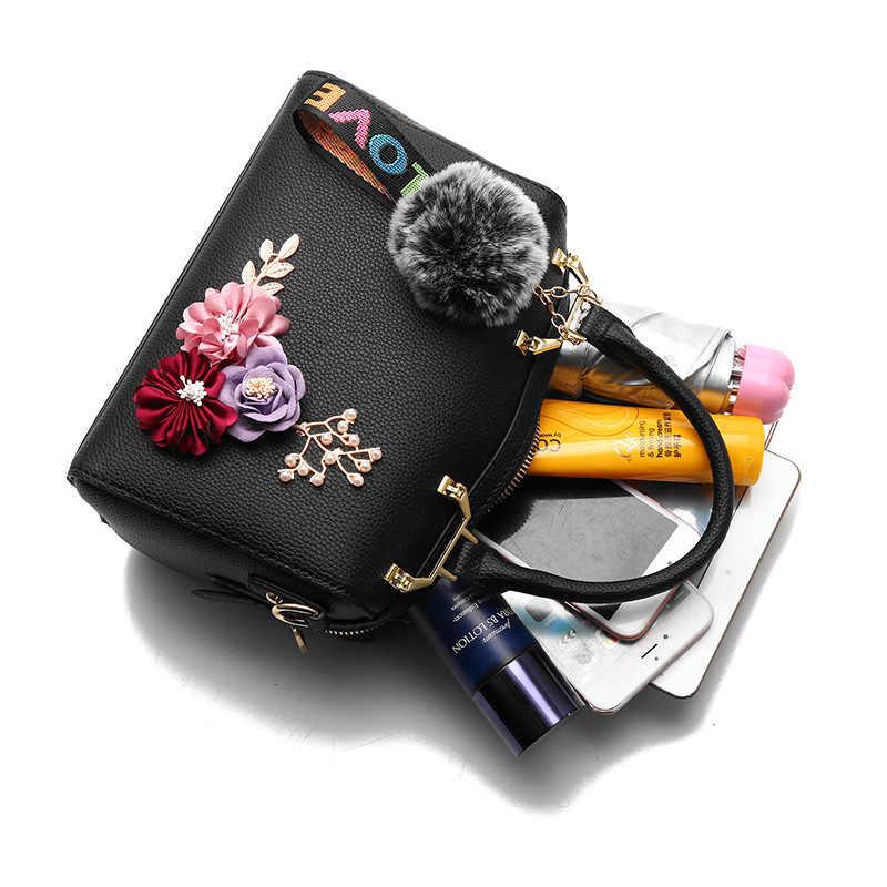 2020 Màu Sắc Hoa Gối Nữ Da PU Túi Cầm Tay Nữ Thương Hiệu Chéo, Túi Đeo Vai Sắc Một chính Femme