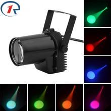 ZjRight 5W Mini LED Pinspot Spotlight Effect Stage Light RGBWYP 6 Color Beam lighting for Mirror Balls Bar ktv DJ Disco show