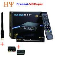 3 шт./лот freesat V8 Супер окна HD спутниковый ресивер WI-FI DVB-S2 тюнер Openbox V8 Super Combo Поддержка USB Wi-Fi