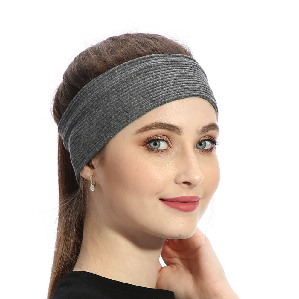 Summer Fashion Stretch Women Striped Headbands Solid Ribbed Female Cotton   Headwear   Hair Accessories Spa Turban for Ladies Girls