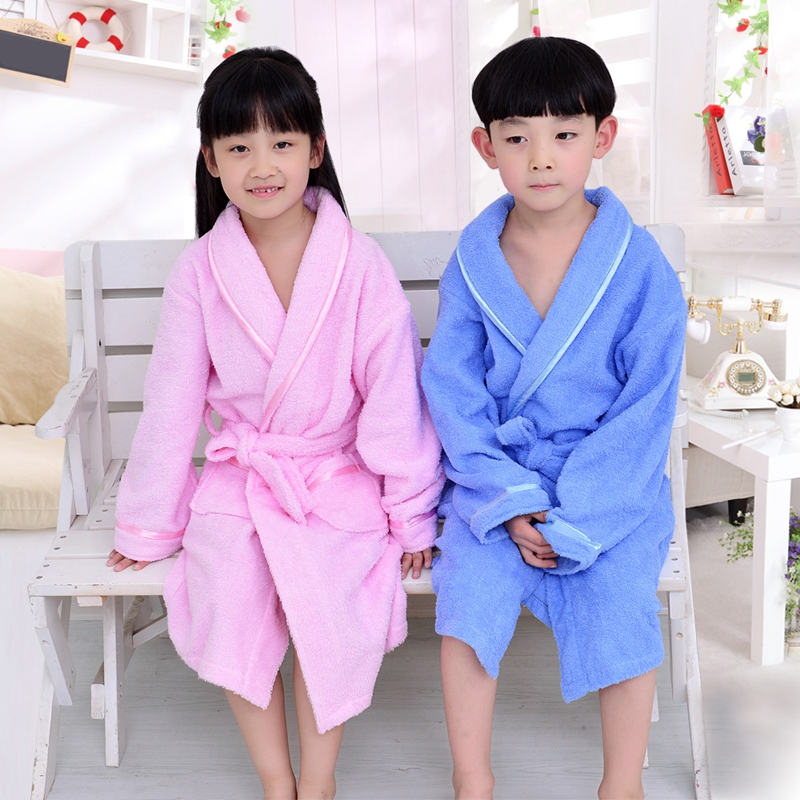 Winter Children's Bathrobe cotton Kids Robe Baby Beach Bath Robe Kids Sleepwear Boy Girls Cartoon Bathrobe Teenager Bathrobes
