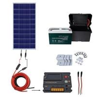 Эко 100 Вт панели солнечные комплект 100ah солнечная батарея для зарядки 12 В солнечной системы дома