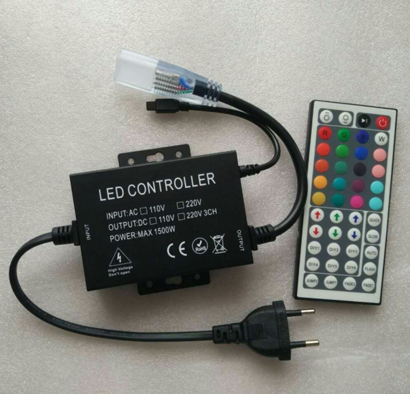༼ ộ_ộ ༽220 В 110 В 44Key ИК-пульт RGB <b>LED</b> контроллер ...