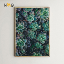 NOOG Succulent Plants Leaves Wall Art Canvas Painting Nordic Posters And Prints Wall Pictures For Living Room Decor цена