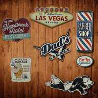 Irregular USA STYLE shade Vintage Tin Sign plaque Bar pub home House Cafe Restaurant Wall Decor Retro Metal Art Poster
