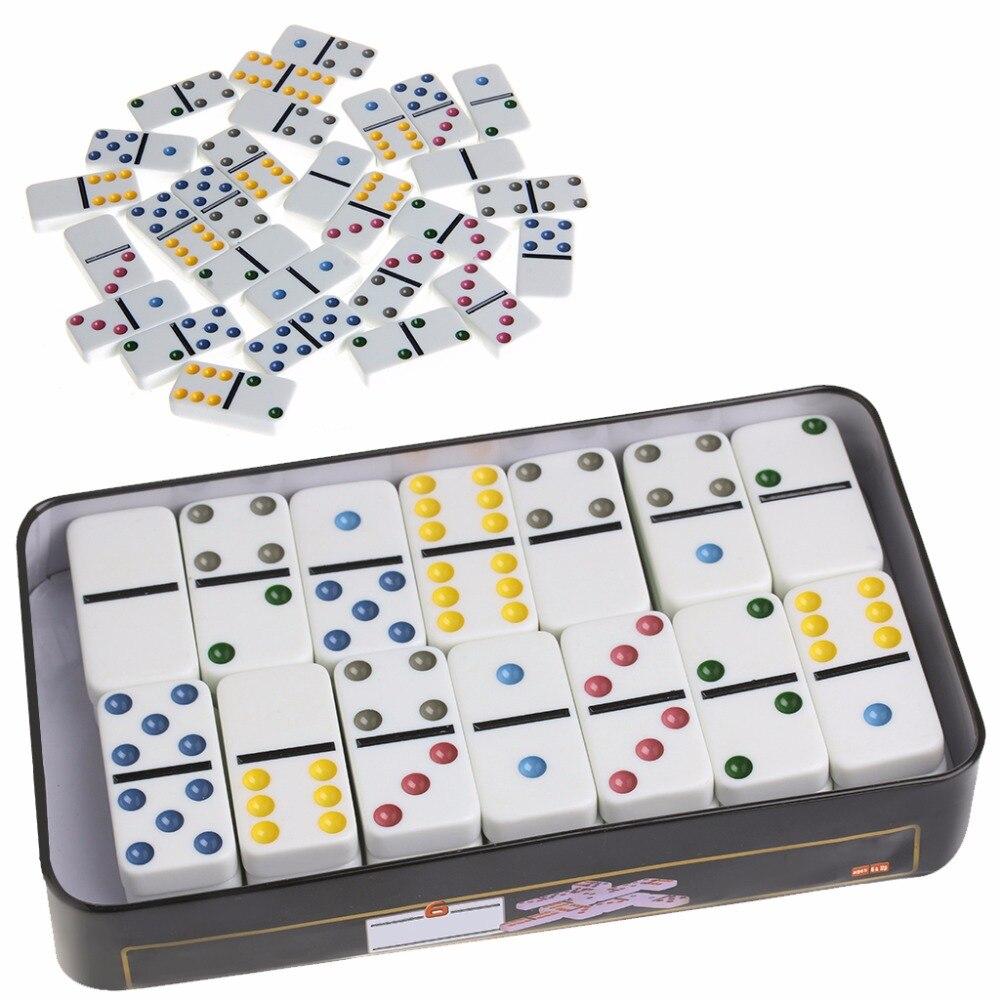 Domino Caixa de ferro Jogo Brinquedo 28