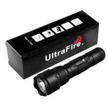 Ultrafire WF-502B portátil XP-L v6 18650 lanterna recarregável tocha caça v6 emissor de luz lâmpada