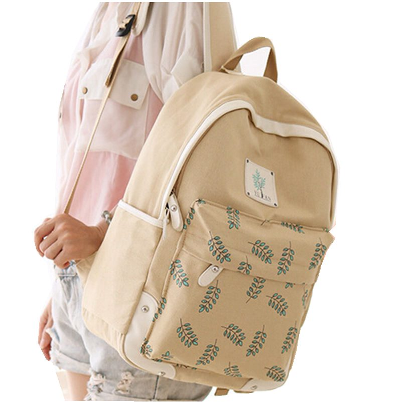 New Many Leaves Printing Backpack 11.11 Fashion Women Bags High Quality Backpacks for Teenage Girls Travel Bag Free Shipping