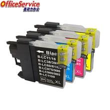 Совместимый чернильный картридж LC11 LC16 LC38 LC39 LC60 LC61 LC65 LC67 LC975 LC980 LC985 LC990 LC1100 для принтера Brother DCP- J140W