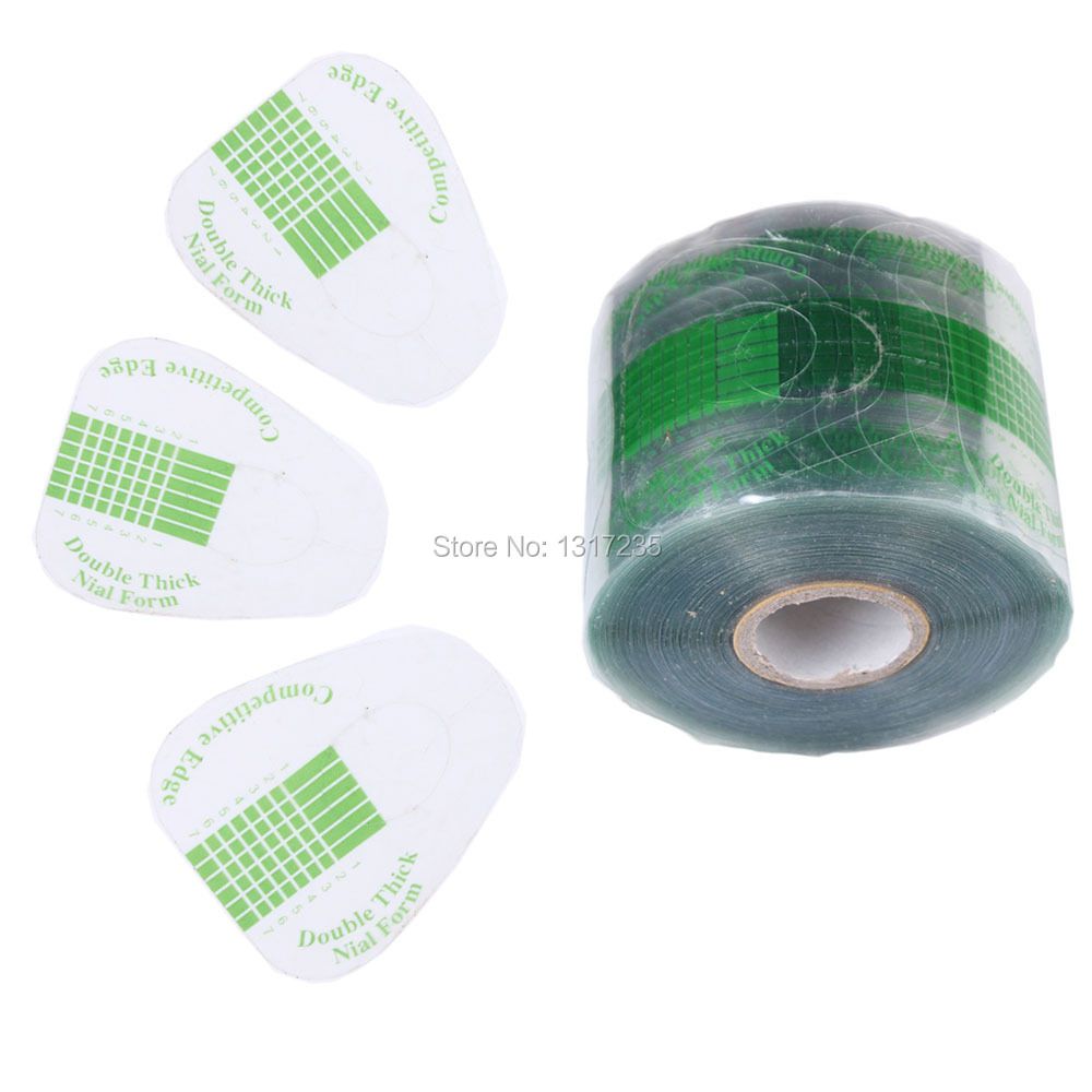 500Pcs/roll Professional Nail Form Sticker UV Gel Nail Art Tip Extension Guide Tools for Salon Nails Care TransparentJT140