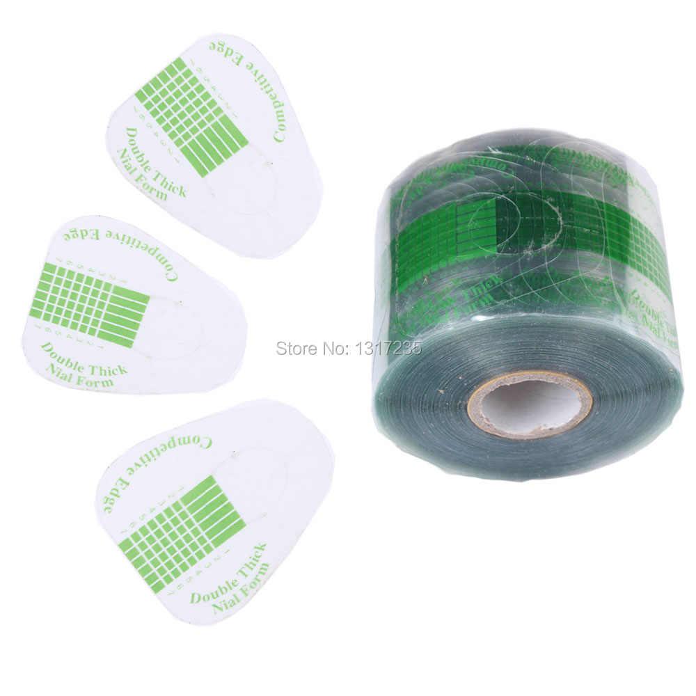 500 Pcs/roll Professionale Unghie, sagome Sticker UV Gel Unghie artistiche Tip Extension Guida di Strumenti per Salon Nails Cura TransparentJT140
