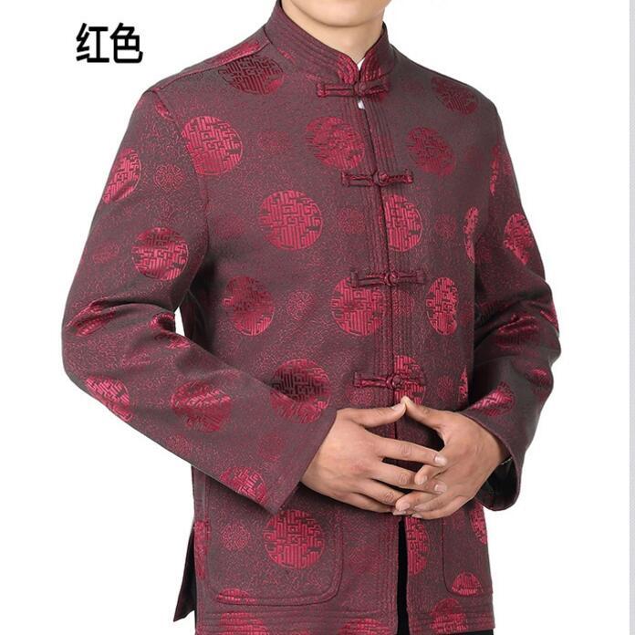 Estilo chinês vestido de noiva traje masculino novo e melhorado Longo mangas compridas Camisa Juventude casaco novo noivo dos homens Hanfu vermelho festivo casaco - 3