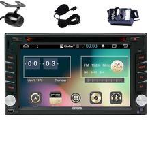 Android 6.0 Car DVD Player 2 Din Car Stereo GPS Navigation Head Unit Bluetooth/Radio/Screen Mirroring/External Micro/Dual Camera