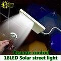 Superbright 18Led 4000mA Remote solar street light outdoor lighting garden Corridor Doorway security Street Light Spotlight