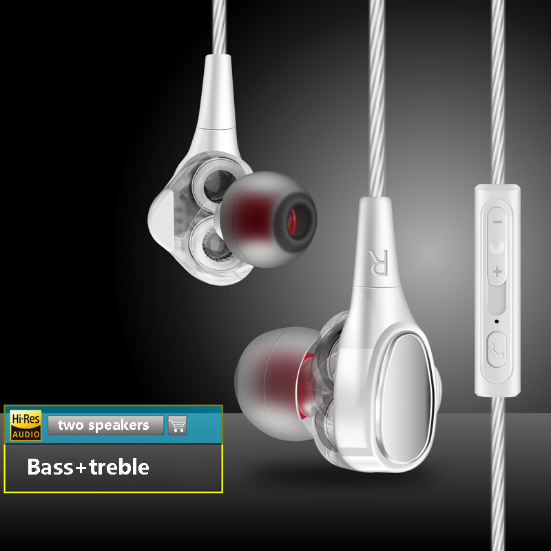 TONGBOXIN Dual Dynamic Driver Professional In Ear Sport Detach MMCX Earphone with 4 driver inside HiFi Headset with Microphone original senfer pt15 flat earburd earphone graphene dynamic driver unit hifi earplug with mmcx interface replaced line headsets