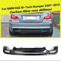 Carbon Fiber Rear Bumper Diffuser Lip Spoiler for BMW 1Series E82 E88 128i 135i M Sport Bumper 2008 2013 Coupe Convertible