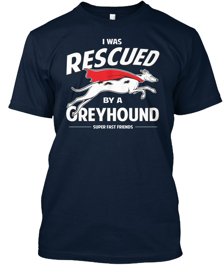Rescued By A Greyhound Premium Tee T-Shirt