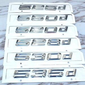 Image 2 - Bmw 5 シリーズ E39 E60 E61 F10 F11 新 520d 525d 528d 530d 535d 550d リアブートトランクリッドトリムカバー手紙バッジエンブレム