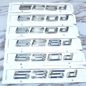 Image 2 - עבור Bmw 5 סדרת E39 E60 E61 F10 F11 חדש 520d 525d 528d 530d 535d 550d אחורי אתחול Trunk מכתבי תג סמל