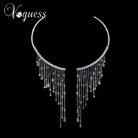 VOGUESS Best Llady Gift Luxury Cz Beads Collar Chokers Necklace Pendant Wedding Sexy Statement Choker Necklaces