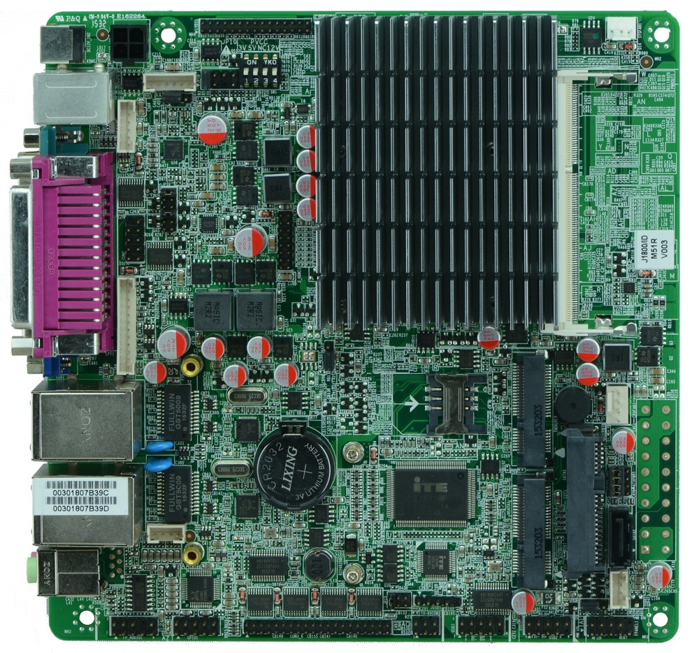 Intel J1800 Bay trail Mini ITX Motherboard With dual Gigabit Ethernet / 6 *COM/ 8*USB/MINI-ITX M51-D826L m945m2 945gm 479 motherboard 4com serial board cm1 2 g mini itx industrial motherboard 100