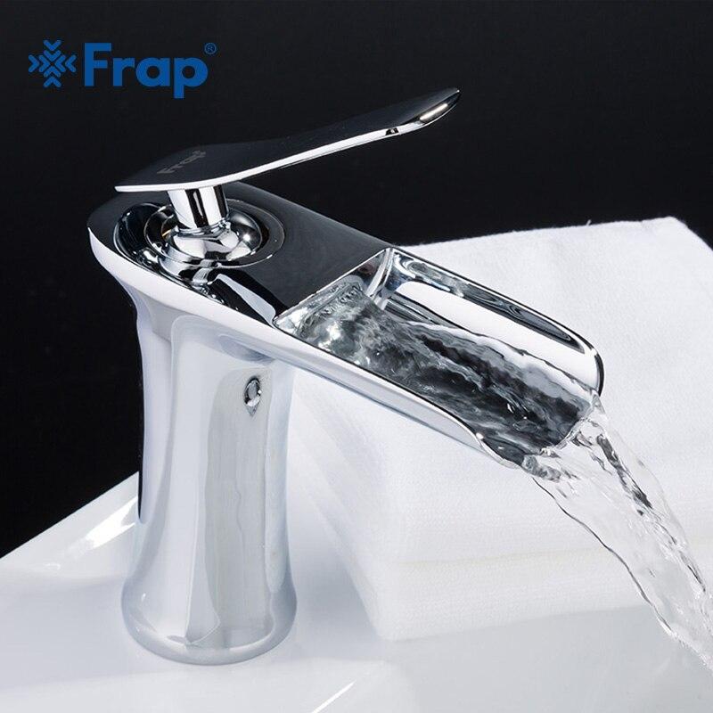 Frap новый смеситель для раковины водопад ванная комната кран Одной ручкой смеситель кран для ванной античная латунь Раковина Водопроводный ...